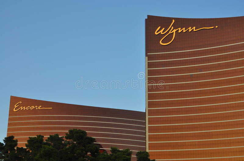 Download Las Vegas Strip - Detail Of Wynn And Encore Hotel At Sunset Editorial Photography - Image: 37974762