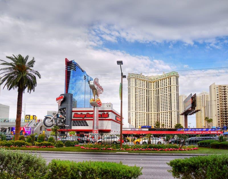 Las Vegas Strip, Harley-Davidson, Nevada USA. Las Vegas Strip - Harley-Davidson dealership and showroom view. Nevada, USA stock photography