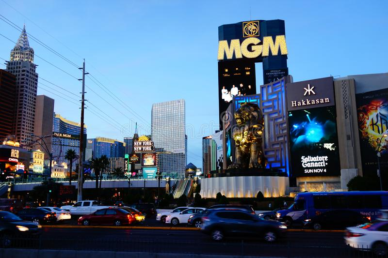 The Las Vegas Strip 6. Lined with upscale casino hotels, the neon-soaked Strip is quintessential Las Vegas. As well as gambling floors, the vast hotel complexes royalty free stock photos