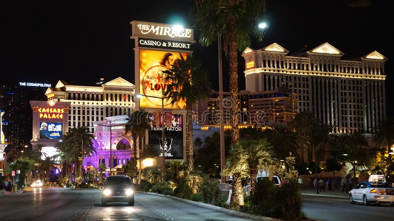 Las Vegas Strip in Nevada. The Las Vegas Strip is an approximately 4.2-mile stretch of Las Vegas Boulevard South in Clark County, Nevada royalty free stock images