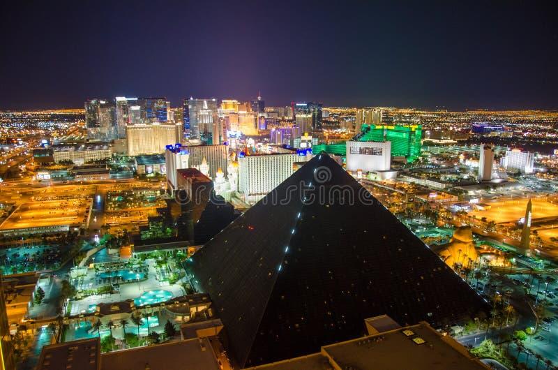 Download Las Vegas Strip by night editorial photo. Image of night - 30415956
