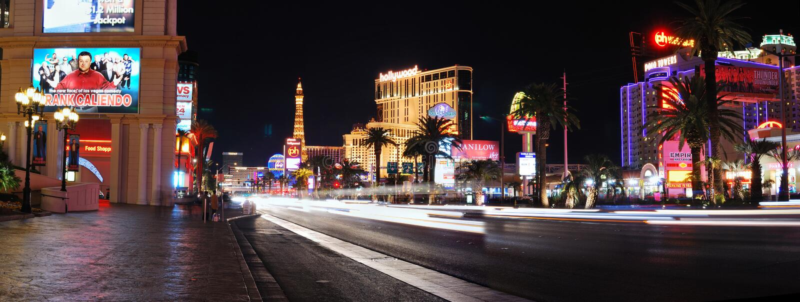 Download Las Vegas Strip Night Panorama Editorial Photography - Image: 13444652