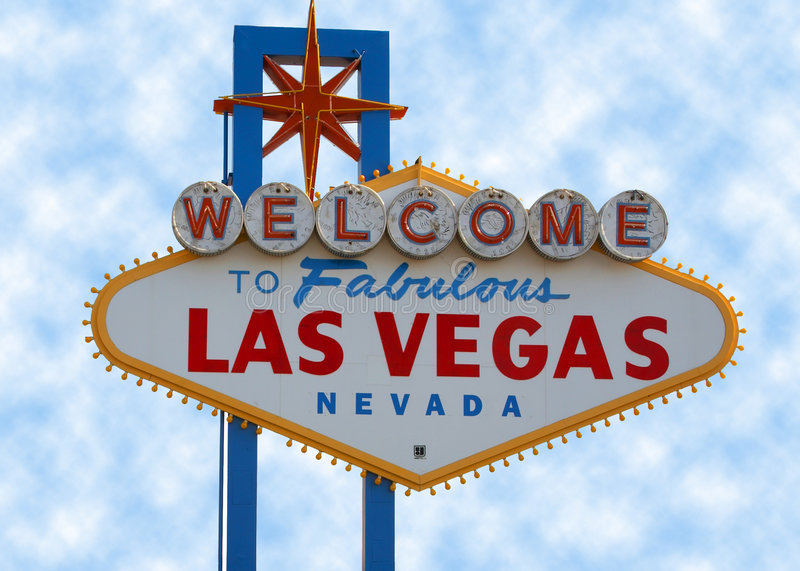 Las Vegas Strip Sign stock photography