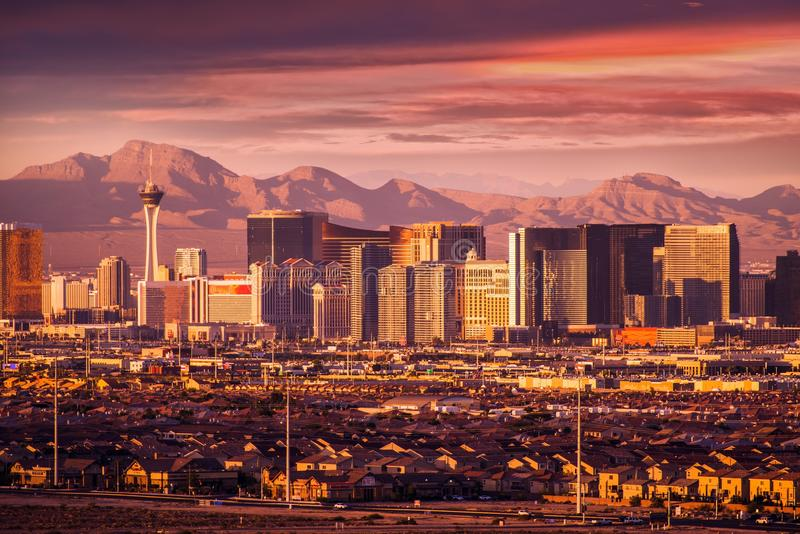 Las Vegas Strip Skyline stock image