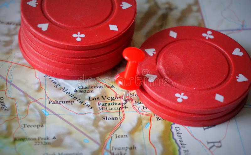 Las Vegas sulla mappa immagine stock