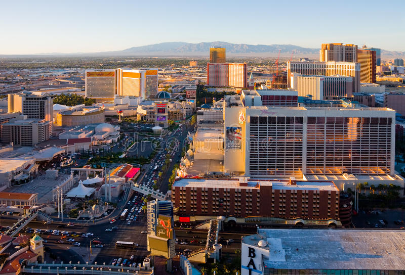 Download Las Vegas at sunset editorial photography. Image of king - 9631072