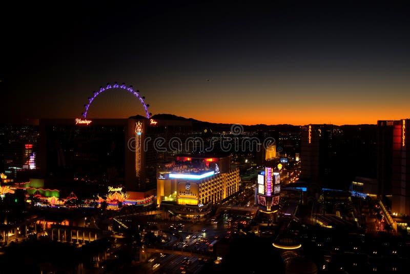 Las Vegas a sunsrise immagine stock