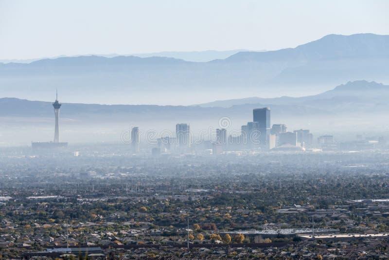 Las Vegas-Tal-Dunst stockbild