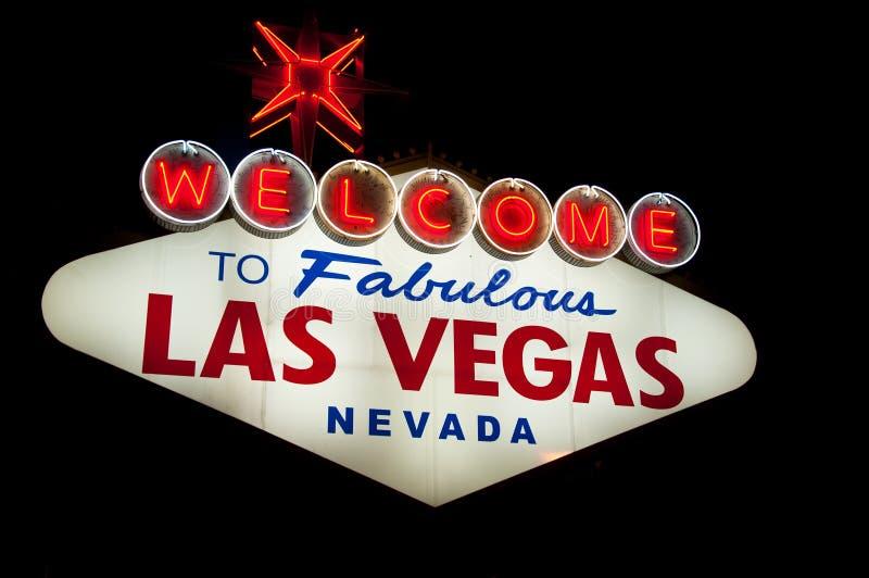 Las Vegas tecken royaltyfri foto