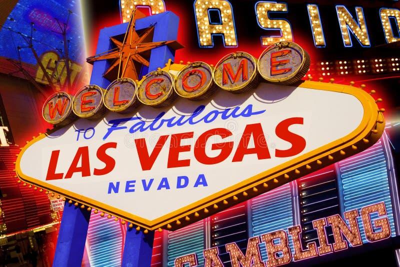 Las Vegas tecken royaltyfri fotografi