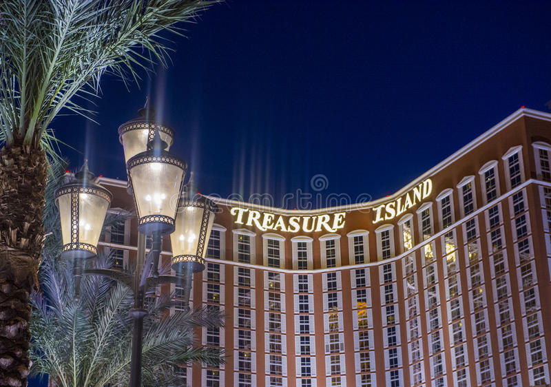 Las Vegas , Treasure Island. LAS VEGAS - JULY 21 : Treasure Island hotel and casino on July 21 2014 in Las Vegas. This Caribbean themed resort has an hotel with royalty free stock photography