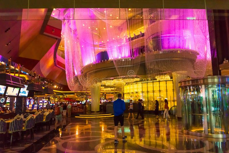 Las Vegas, United States of America - May 06, 2016: The interior at the Wynn Hotel and casino. In Las Vegas royalty free stock photography