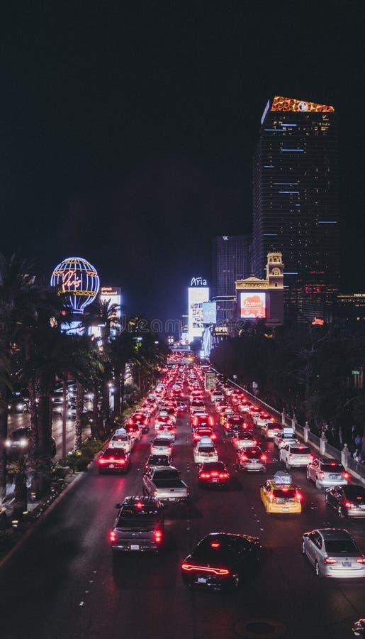 LAS VEGAS, UNITED STATES - Jun 30, 2019: The Las Vegas Strip. At night royalty free stock photography