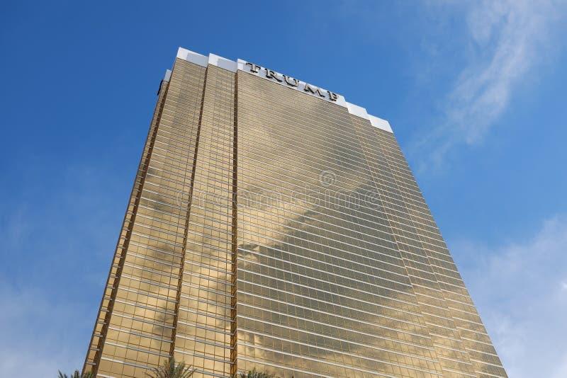 LAS VEGAS, UNITED STATES - Jun 30, 2019: Trump International Hotel Las Vegas. LAS VEGAS, UNITED STATES - Jun 30, 2019: Trump International Hotel in Las Vegas royalty free stock image