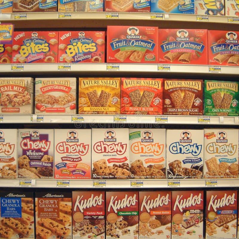 Breakfast cereals sold in Las Vegas. Las vegas, United States - March 30, 2003 : Breakfast cereals sold in a supermarket stock photo