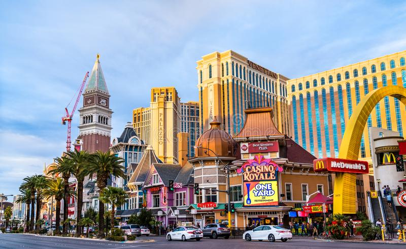 Casino Royale and Venetian in Las Vegas - Nevada, United States stock photos