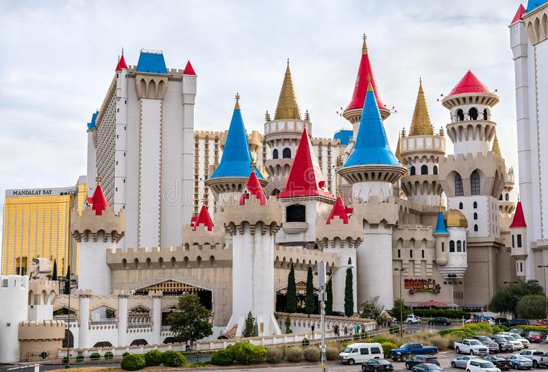 Excalibur Hotel and Casino in Las Vegas - Nevada, United States royalty free stock images