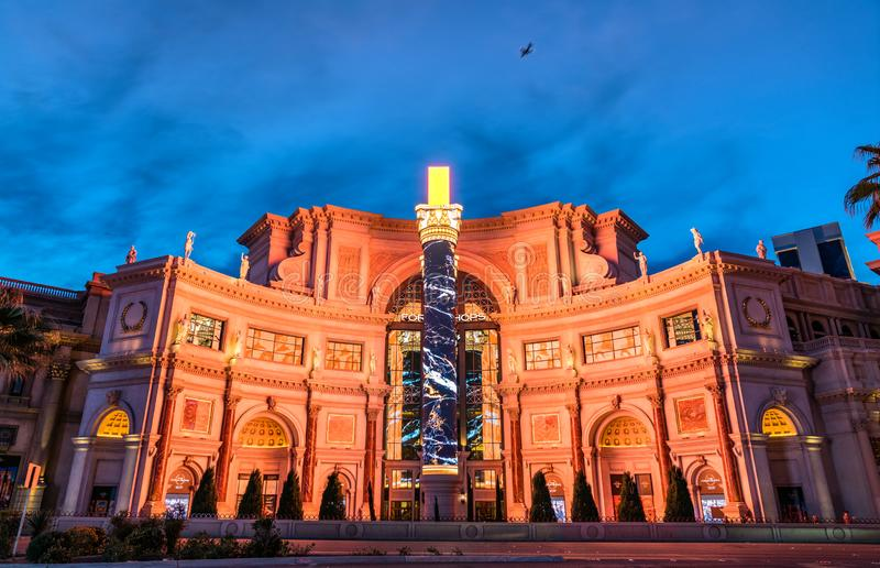 The Forum Shops at Caesars in Las Vegas, United States. Las Vegas, United States - March 19, 2019: The Forum Shops at Caesars, a major shopping mall connected to royalty free stock photo