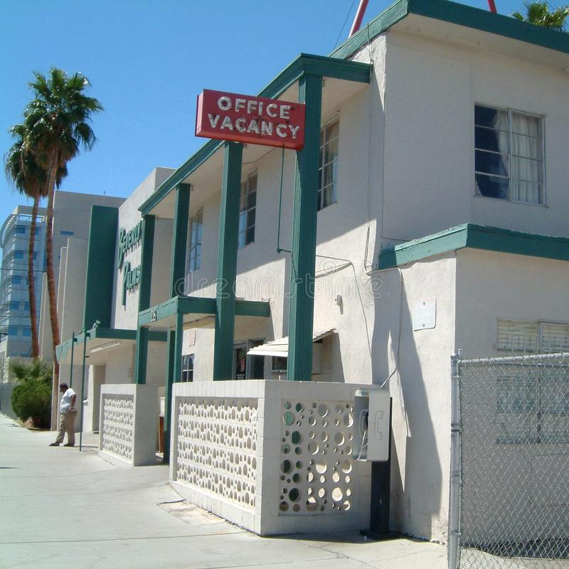 Motel Office, Vacancy Neon Sign Editorial Image