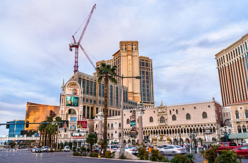 The Venetian luxury hotel and casino resort in Las Vegas, United States royalty free stock photos