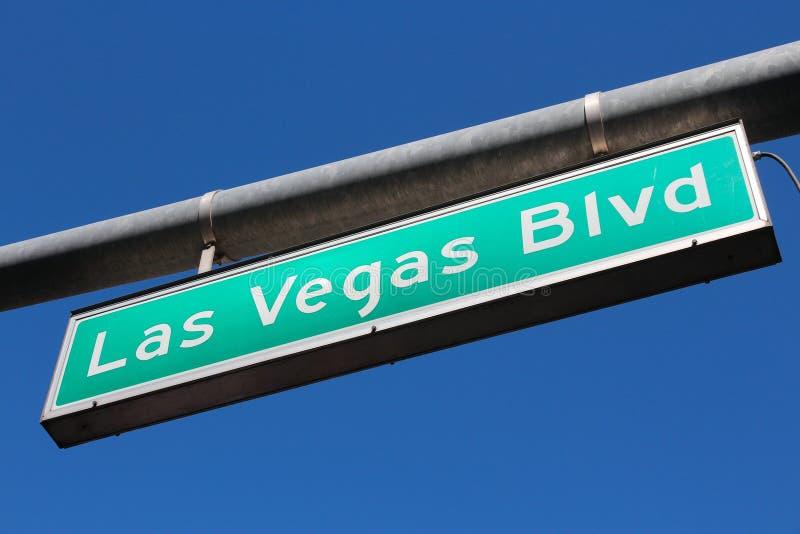 Las Vegas. United States - Las Vegas, Nevada. Famous Las Vegas Boulevard sign the Strip royalty free stock photos
