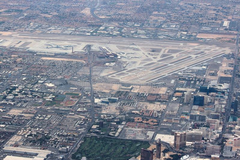 Aerial view of Las Vegas McCarran airport royalty free stock photos