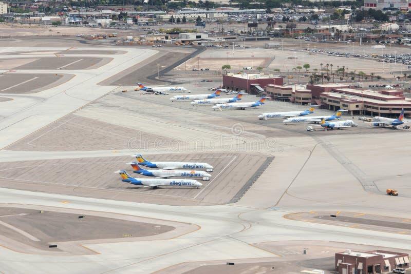 LAS VEGAS, USA - APRIL 15, 2014: Allegiant Air fleet at Las Vegas McCarran International Airport. Allegiant Air will replace all stock photos