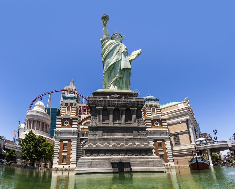 New York Hotel and Casino in Las Vegas, with Replica of the Statue of Liberty royalty free stock photos