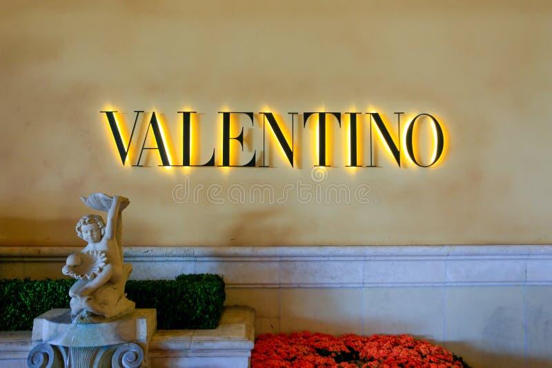 LAS VEGAS, USA - JUNE 13, 2017: Valentino fashion store royalty free stock photos