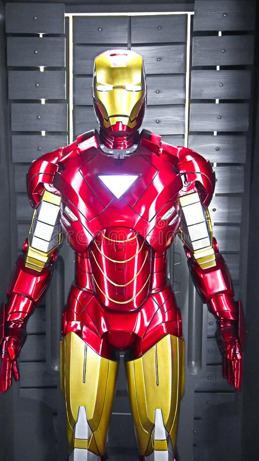 Iron man Mark 6 model. Las Vegas,USA - OCT 09, 2017: Iron man Mark 6 model at the Avengers experience in Treasure Island Hotel and Casino on Las Vegas Strip stock photos