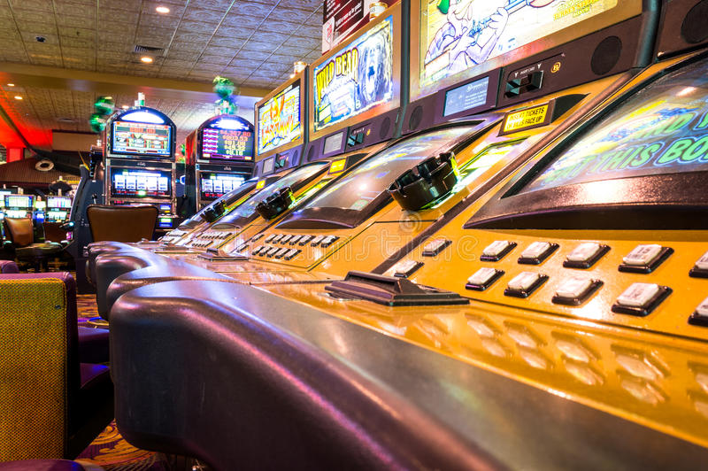 Las Vegas, USA - October 1, 2012: Game machines inside The Orleans Casino. stock photography