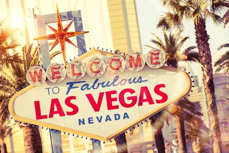 Las Vegas välkomnande arkivfoto