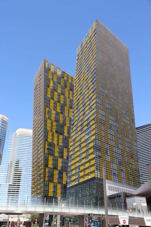 Las Vegas verandert Torens van richting stock foto