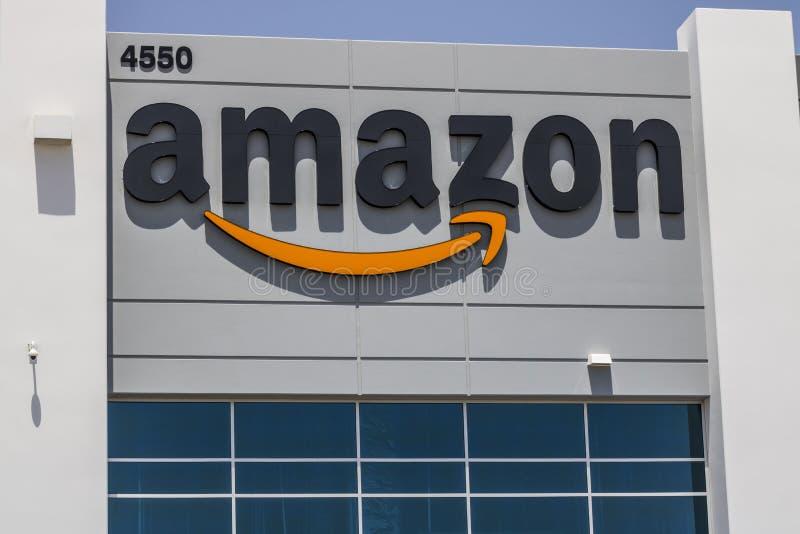 Las Vegas - vers en juillet 2017 : Amazone centre de réalisation de COM Amazone est le plus grand détaillant basé sur Internet au photo libre de droits