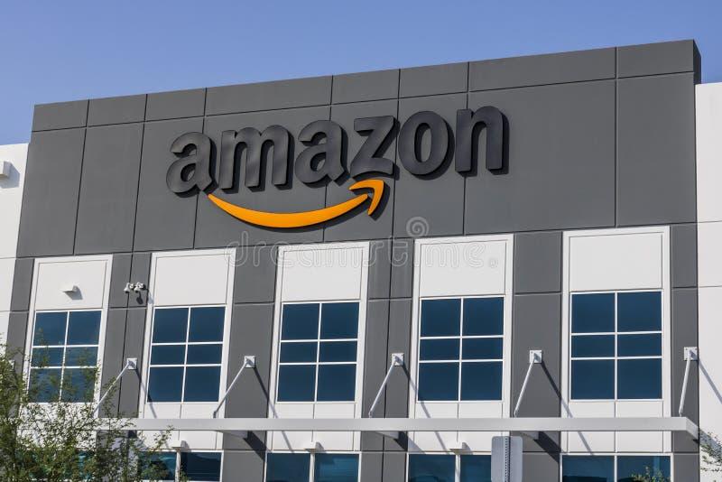 Las Vegas - vers en juillet 2017 : Amazone centre de réalisation de COM Amazone est le plus grand détaillant basé sur Internet au images libres de droits