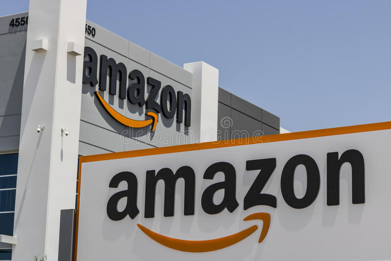 Las Vegas - vers en juillet 2017 : Amazone centre de réalisation de COM Amazone est le plus grand détaillant basé sur Internet au image stock