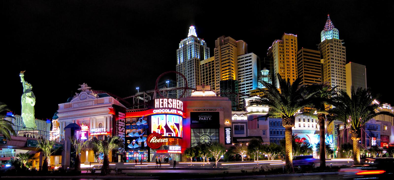 Las Vegas. A view of the New York hotel in Las Vegas