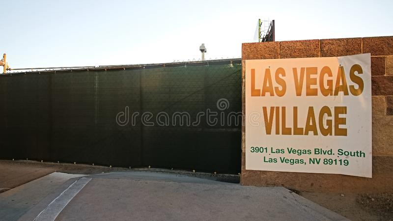 Las Vegas village. LAS VEGAS, NV - SEP 15,2018: Now in Las Vegas village one year after the Las Vegas shooting incident. Here Route 91 Harvest Country Music stock images