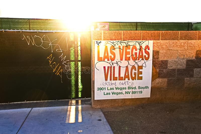 Las Vegas village. LAS VEGAS, NV - SEP 15,2018: Now in Las Vegas village one year after the Las Vegas shooting incident. Here Route 91 Harvest Country Music royalty free stock images