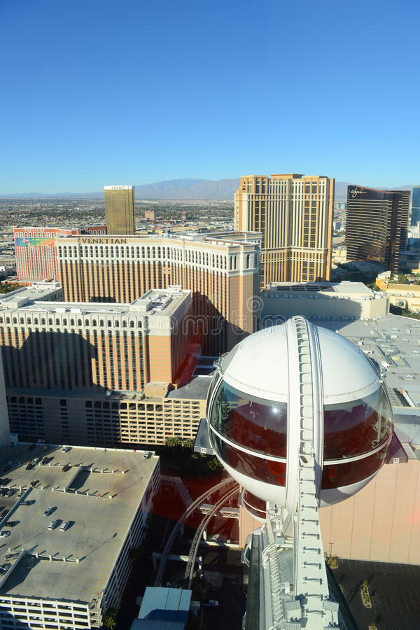 Las Vegas-Vogelperspektive, Las Vegas, Nanovolt lizenzfreie stockbilder