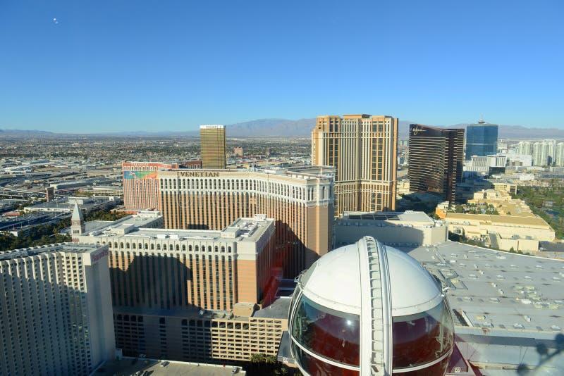 Las Vegas-Vogelperspektive, Las Vegas, Nanovolt stockfotos