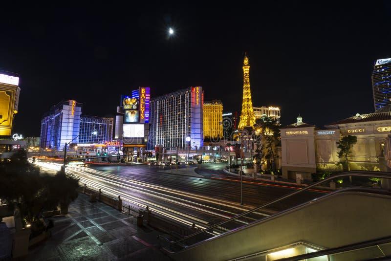 Las Vegas, vue de nuit photographie stock