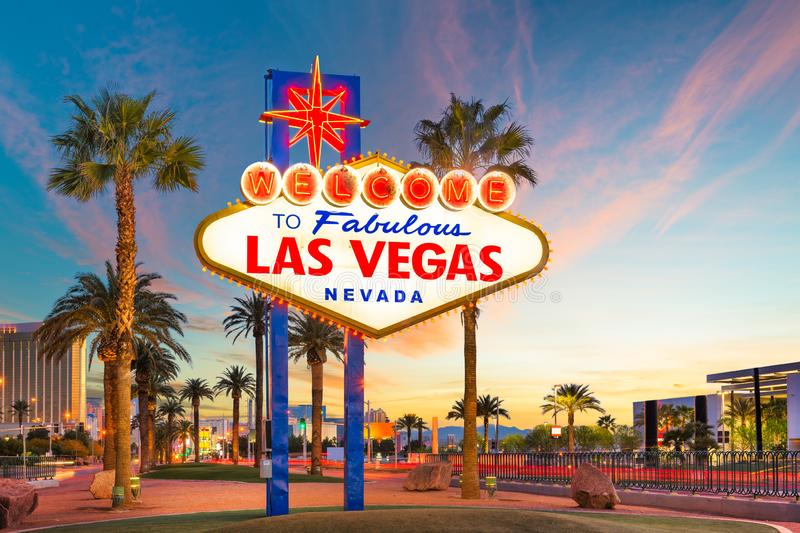 Las Vegas Welcome Sign royalty free stock photo