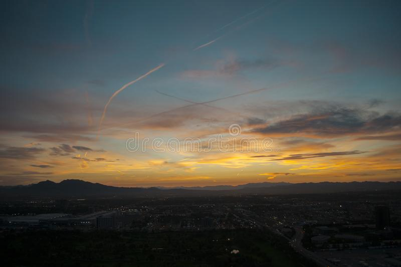 Las Vegas wschodu słońca linia horyzontu zdjęcie stock