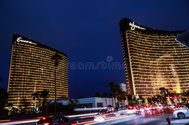 Las Vegas Wynn in the New Year Eve 2015 royalty free stock image