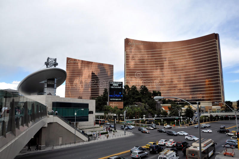 Las Vegas Wynn y repetición fotografía de archivo libre de regalías