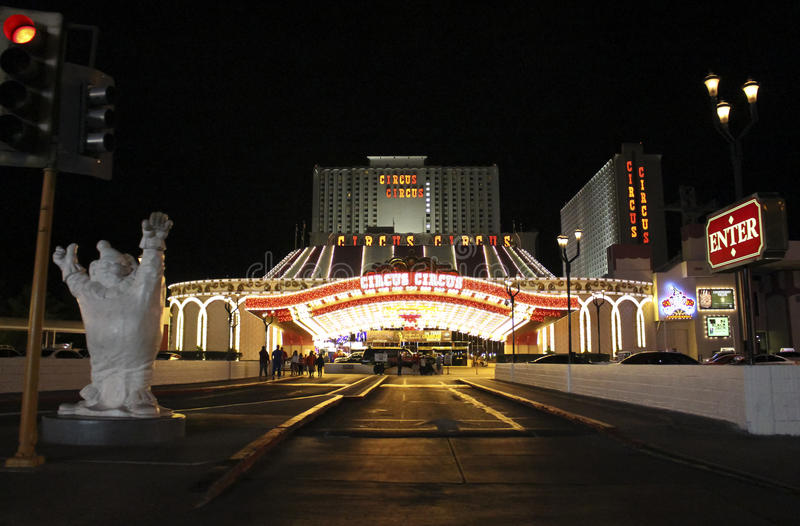 Las Vegas-Zirkus-Zirkus-Hotel lizenzfreie stockbilder