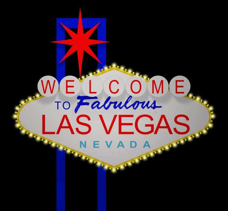 Las- Vegasnacht lizenzfreie abbildung