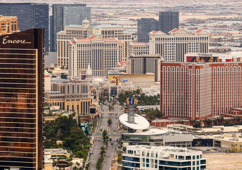 Las- Vegasstreifen stockfotos
