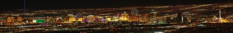 Las- Vegasstreifen panoramisch stockbild